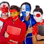 Languages students — Stock Photo
