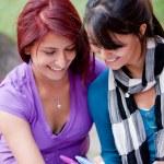 Women studying outdoors — Stock Photo #7760085