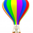 3D hot-air balloon - Stock Photo