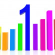Colorful data graph - Stock Photo