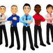 3D group of business men — Stock Photo #7760266