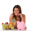 Woman with fruits — Stock Photo #7760267