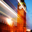 London in motion — Stock Photo
