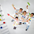Group of painters - Stock Photo