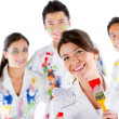 Stock Photo: Group of painters
