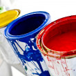 Paint cans — Foto Stock