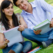 Students outdoors — Stock Photo #7761496