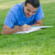 Stock Photo: Man studying outdoors