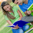 Students outdoors — Stock Photo #7761532