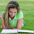 Woman studying outdoors — Stock Photo #7761533