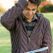 Frustrated male student — Stock Photo