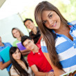 Female student at the university — Stock Photo #7761601