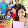 Stock Photo: Female student at the university