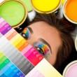 Female painter — Stock Photo