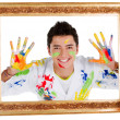 Happy male painter — Stock Photo