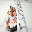 Painters with a ladder — Stock Photo