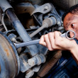 Mechanic in a garage — Stock Photo