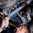 Mechanic in a garage — Stock Photo #7761763