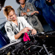 Female mechanic working — Stock Photo