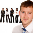 Business man with a group — Stock Photo #7761923