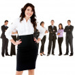 Business woman with a group — Stock Photo #7761950