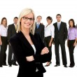 Business woman with a group — Stock Photo #7761966