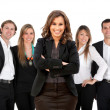 Business woman with a group — Stock Photo #7761983