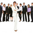 Business woman with a group — Stock Photo #7761998
