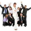 Business woman with a group — Stock Photo #7762002