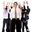 Business man with a group — Stock Photo #7762011