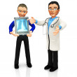 3D doctor looking x-ray — Stock Photo #7762035