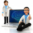 Royalty-Free Stock Photo: 3D brain doctors