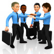 3D business team — Stock Photo