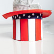 USA hat with dollars — Stock Photo