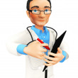 3d doctor — Stock Photo