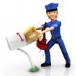 3D mailman - Stock Photo