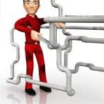 3D plumber — Stock Photo
