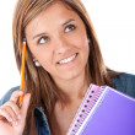 Pensive female student — Stock Photo #7762249