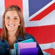 English female student — Stockfoto