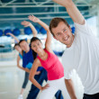 Gym group exercising — Stock Photo #7762283