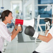 Tough female trainer — Stock Photo #7762305