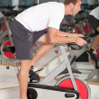 Man doing spinning at the gym — Stock Photo #7762322