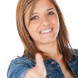 Stock Photo: Girl with thumbs up