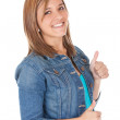 Girl with thumbs up — Stock Photo #7762394