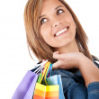 Shopping girl — Stock Photo