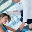 Stock Photo: Athletic womin physiotherapy