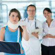 Insured injured woman — Stock Photo #7762481