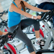 Woman doing spinning at the gym — Stock Photo #7762491