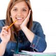 Stock Photo: Teenage female student