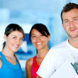 Gym women with their trainer — Stock Photo #7763947